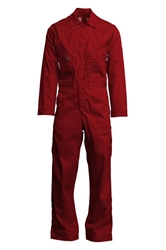 Lapco 7oz Flame Resistant Red Deluxe Coverall