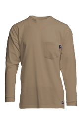 Lapco Flame Resistant 6oz Khaki Pocket T-Shirt