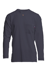 Lapco Flame Resistant 6oz Navy Pocket T-Shirt
