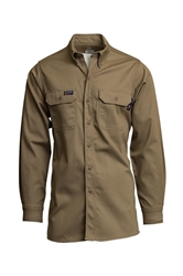 Lapco Flame Resistant 7 oz. Khaki Uniform Shirt
