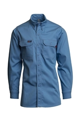 Lapco Flame Resistant 7 oz. Medium Blue Uniform Shirt