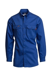 Lapco Flame Resistant 7 oz. Royal Uniform Shirt