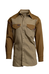 Lapco Flame Resistant 7oz Two-Tone Western Shirt