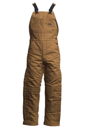 Lapco Flame Resistant 9oz Insulated Bib Overall | Brown