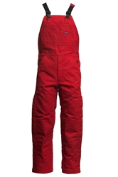 Lapco Flame Resistant 9oz Insulated Bib Overall | Red