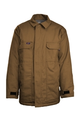 Lapco Flame Resistant 9oz Insulated Chore Coat | Brown