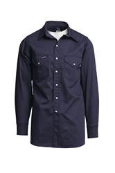 Lapco Flame Resistant Navy Western Shirt w/Snaps