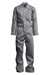 Lapco Men's 6oz Flame Resistant Grey Deluxe Coverall - GOCD6GY
