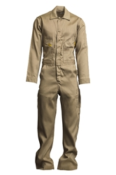 Lapco Mens 6oz Flame Resistant Khaki Deluxe Coverall
