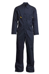 Lapco Mens 6oz Flame Resistant Navy Deluxe Coverall