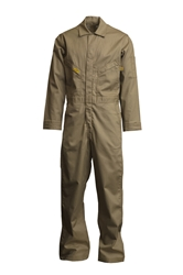 Lapco Mens 7oz Flame Resistant Khaki Deluxe Coverall