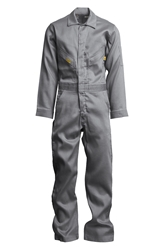 Lapco Mens 7oz Flame Resistant Light Gray Deluxe Coverall