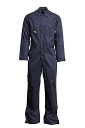 Lapco Mens 7oz Flame Resistant Navy Deluxe Coverall