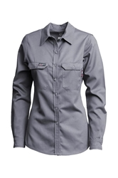 Lapco Women's FR 7oz Advanced Comfort Uniform Shirt | Gray