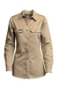 Lapco Women's FR 7oz Advanced Comfort Uniform Shirt | Khaki