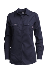 Lapco Women's FR 7oz Advanced Comfort Uniform Shirt | Navy
