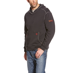 Mens Ariat FR Polartec Hooded Sweatshirt | Black