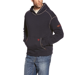 Mens Ariat FR Polartec Hooded Sweatshirt | Navy