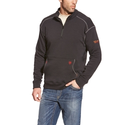Mens Ariat FR Polartec Quarter-Zip Fleece Sweatshirt | Black