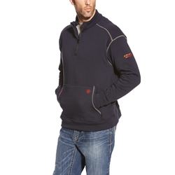 Men's Ariat FR Polartec Quarter-Zip Fleece Sweatshirt | Navy