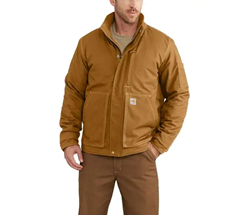 Men's Carhartt FR Full Swing Lanyard Access Jacket | Carhartt Brown