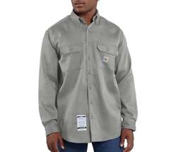 Men's Carhartt FR Light Weight Twill Work Shirt | Gray