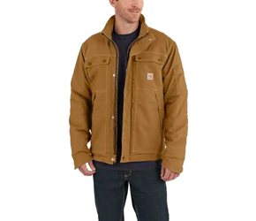 Mens Carhartt Full Swing FR Quick Duck Coat | Brown