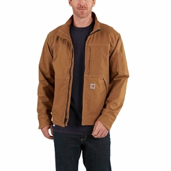 Mens Carhartt Full Swing FR Quick Duck Jacket | Brown
