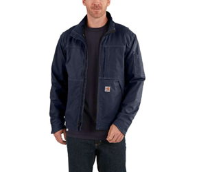 Mens Carhartt Full Swing FR Quick Duck Jacket | Navy