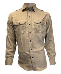 Mens Reed Nomex IIIA Snap Work Shirt | Khaki