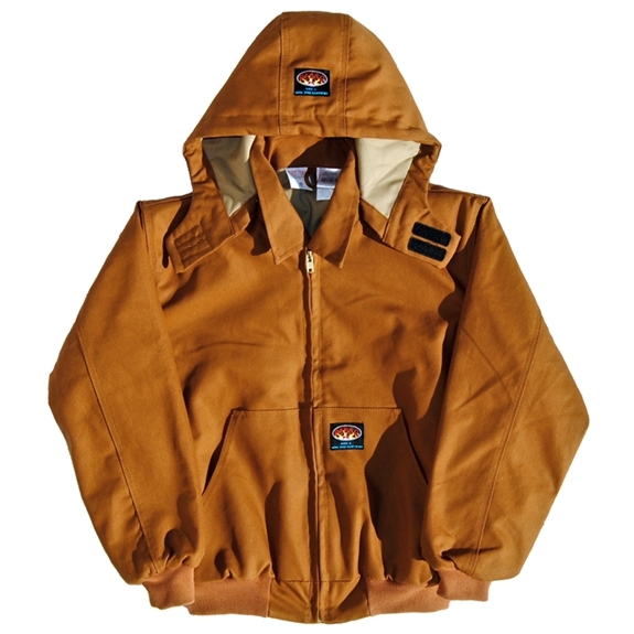 Rasco Fire Resistant Men's Hooded Jacket - Brown Duck