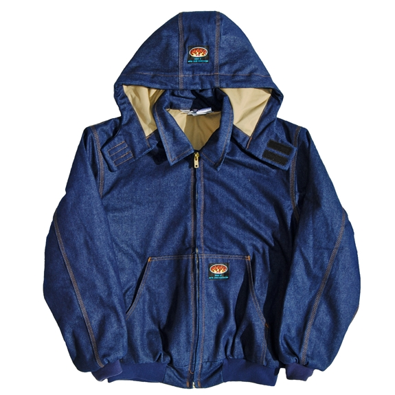 Rasco Flame Resistant Hooded Jacket - Denim