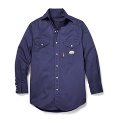 bb0361cabb9f Rasco FR Navy Lightweight Work Shirt