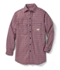 Rasco FR Plaid Dress Shirt | Red