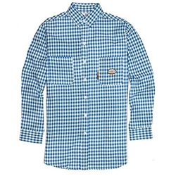 Rasco Fire Retardant Blue Plaid Dress Shirt