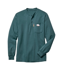 Rasco Flame Resistant Henley T-Shirt | Green