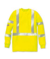 Rasco Flame Resistant Hi Vis Long Sleeve Shirt W/ Trim | Yellow