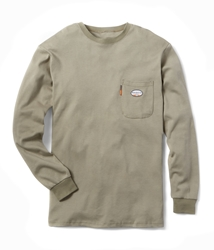Rasco Flame Resistant Long Sleeve T-Shirt | Khaki