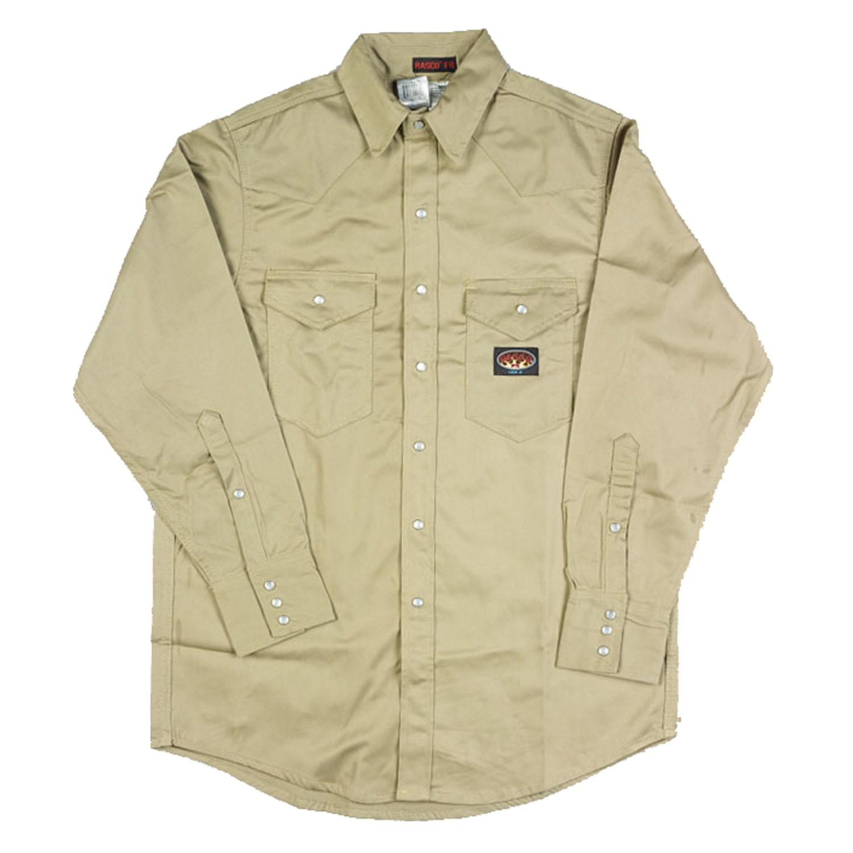 6e8d5822bc1 Rasco FR Khaki Lightweight Work Shirt