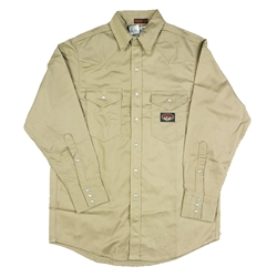 Rasco FR Khaki Lightweight Work Shirt