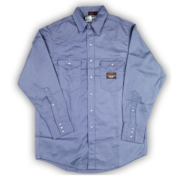 Rasco FR Lightweight Blue Work Shirt