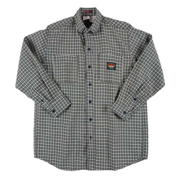 Rasco Fire Retardant Green Plaid Dress Shirt