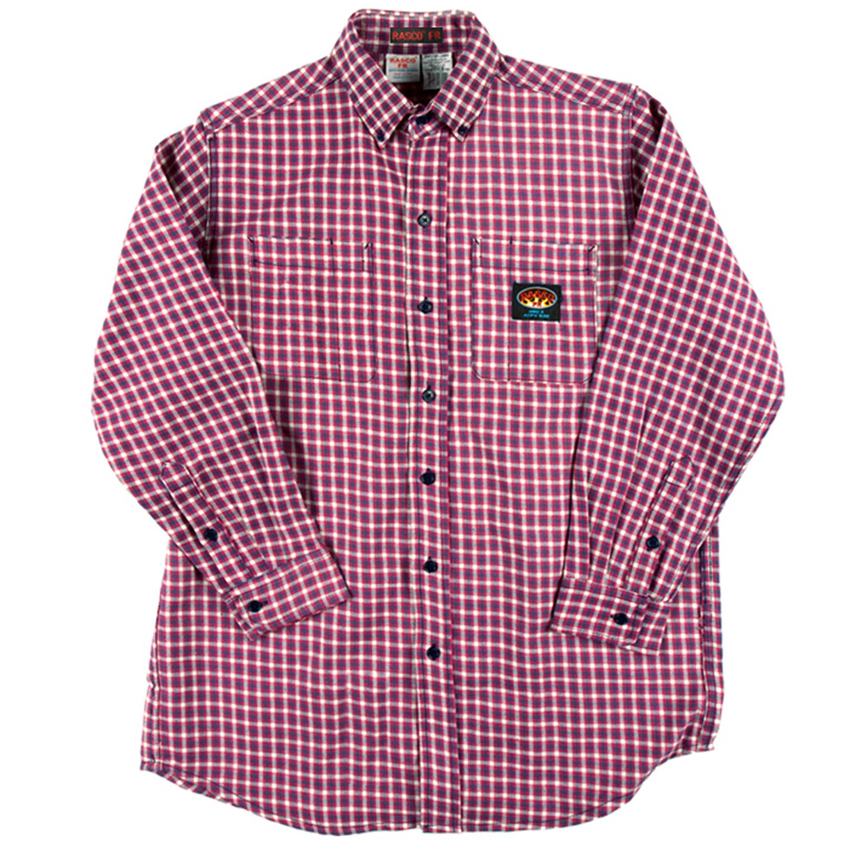 Red plaid rasco men 39 s fr shirt plr756 for Pink checkered dress shirt