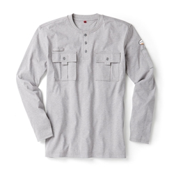 Rasco Flame Resistant Utility Henley T-Shirt | Heather Gray