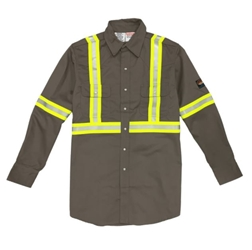 Gray Rasco Hi Visibility Work Shirt