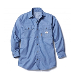 Rasco Mens FR 6 oz Chambray Work Shirt