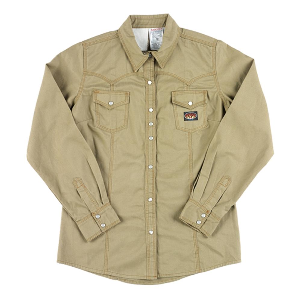 813c69cf5f9 Rasco Women's Khaki FR Work Shirt