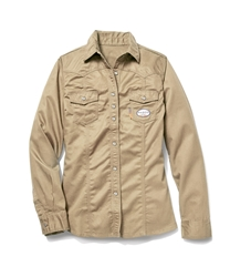 Rasco Womens Khaki FR Work Shirt