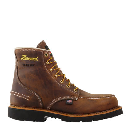 "Thorogood Mens American Heritage 6"" Waterproof Crazy Horse Safety Toe 