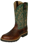 Twisted X Steel Toe Dark Green Cowboy Work Pull-On